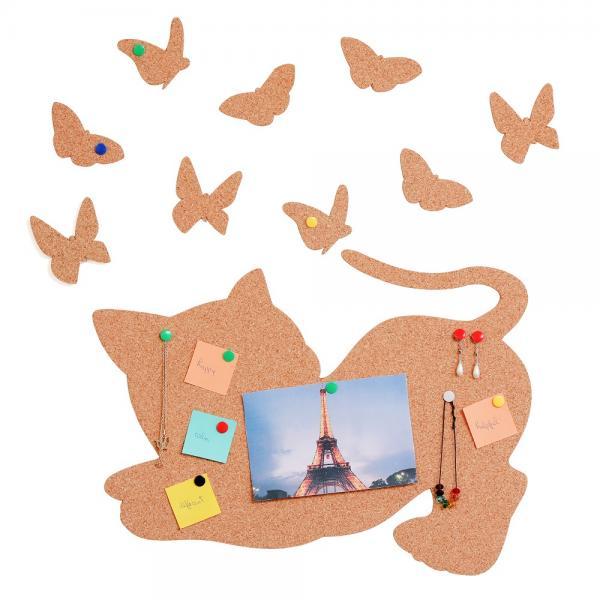 Cat and Butterflies Tabla din pluta 0