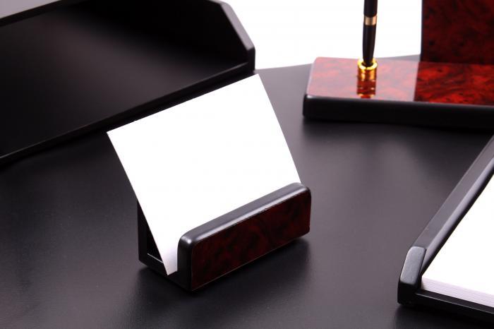 Business Set multifunctional pentru birou Dark Burgundy cu 8 accesorii 3