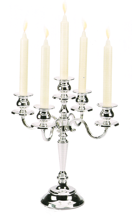 Candlestick Silver by Chinelli - Made in Italy 0