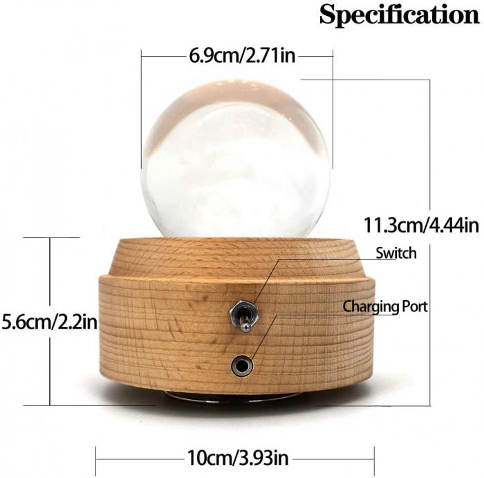 Lampa Cristal Calea Lactee 3D Rotativa si Muzicala 3