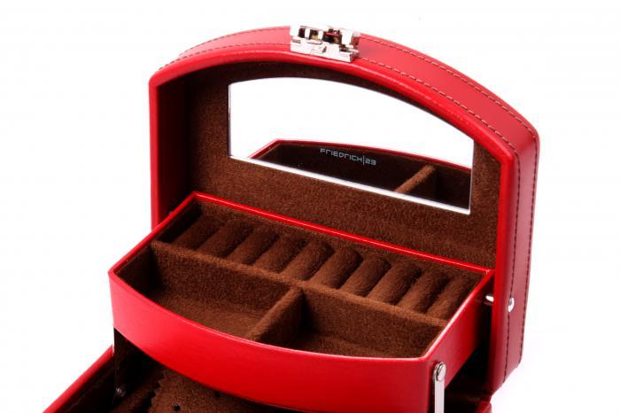 Cutie Bijuterii Intense Red piele naturala By Friedrich – Made in Germany - personalizabil-big