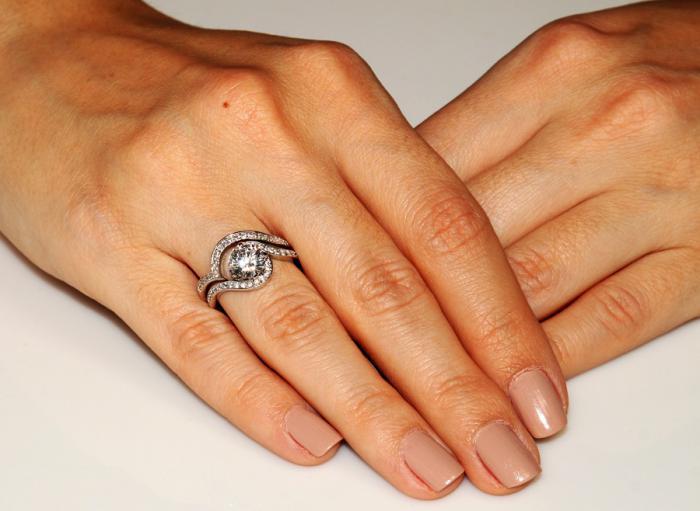 Set Inel şi Verighetă Borealy Argint 925 Luxury Princess Marimea 7,5 2