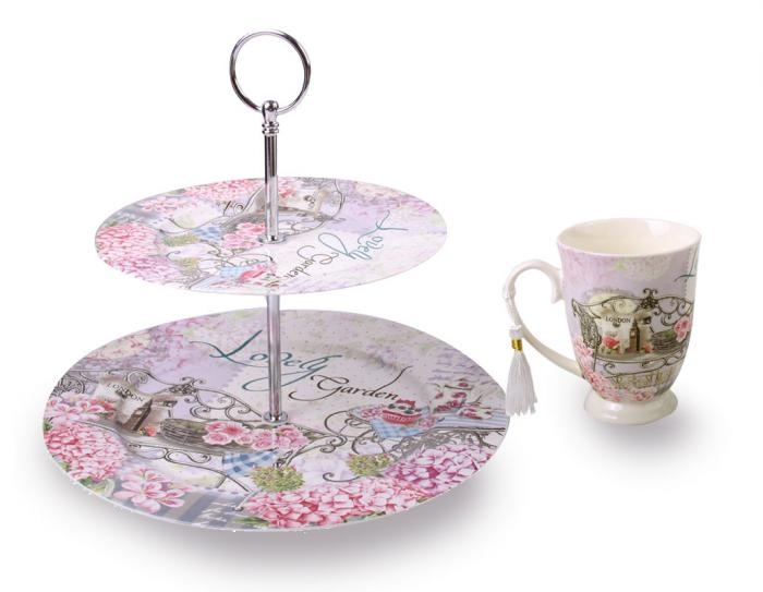 Lilac London Garden Set Cana si Fructiera 0