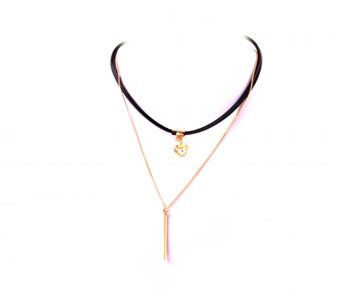 Choker Borealy Crystal Crown Gold Plated 0