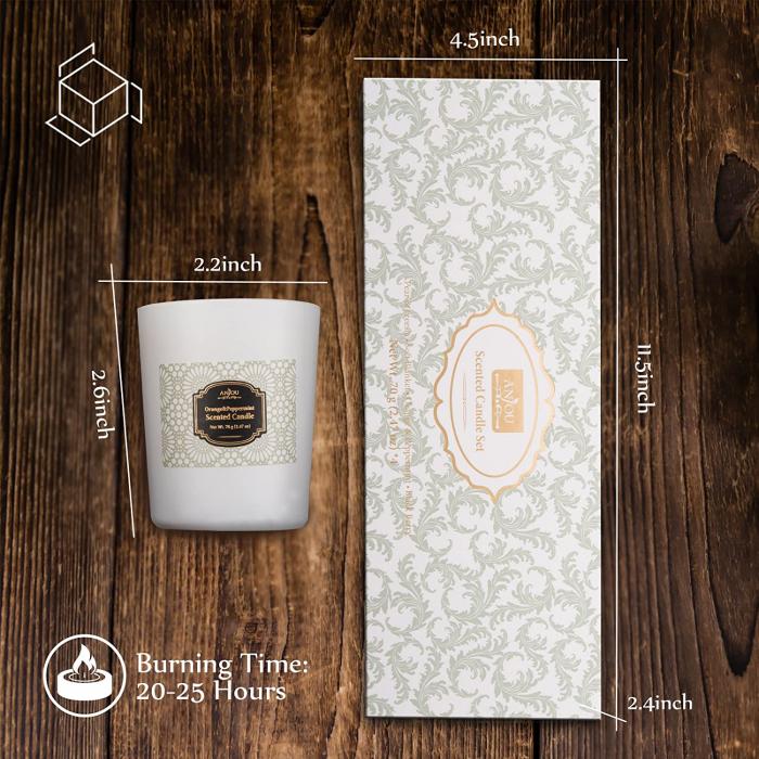 Luxury Cadou ANJOU Set 4 lumanari naturale parfumate 7