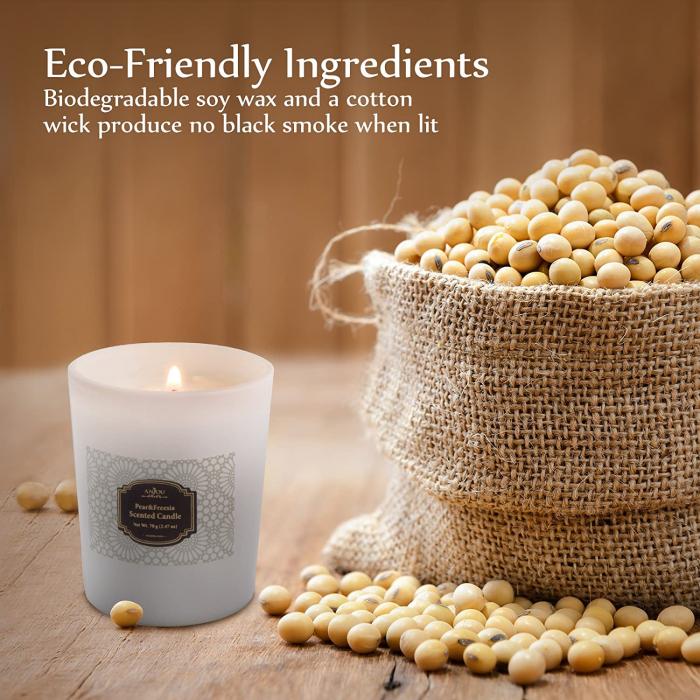 Luxury Cadou ANJOU Set 4 lumanari naturale parfumate 5