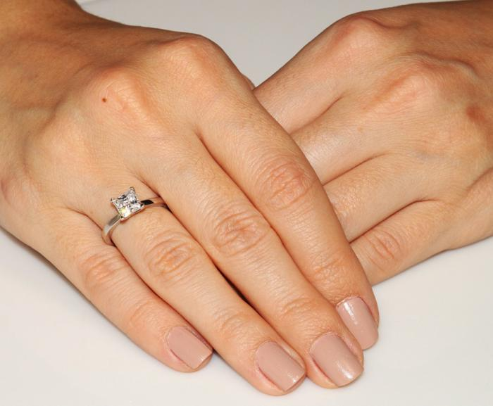 Inel Borealy Argint 925 Simulated Diamond Logodna Princess Marimea 6-big