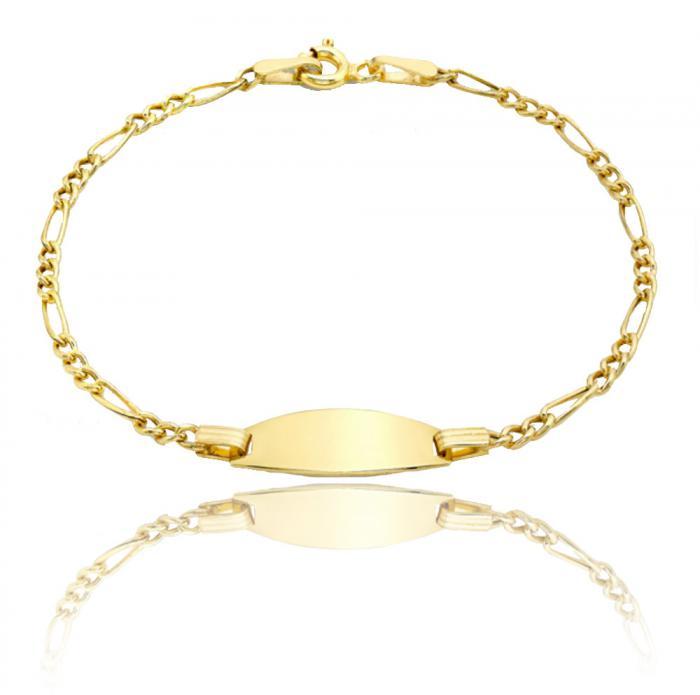 Bratara pentru Copii Borealy Aur Galben 9 K Hollow Figaro 0