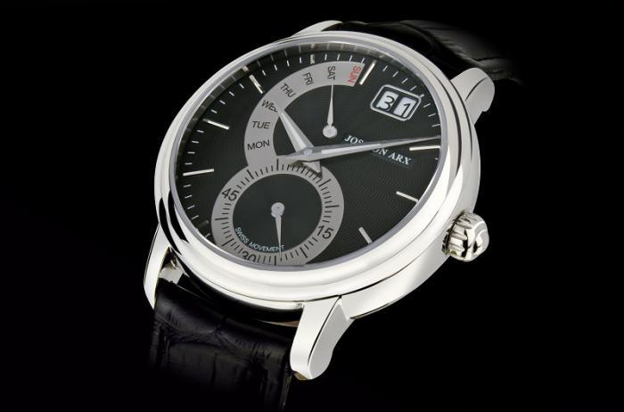 Retrograde Watch Black&Silver Jos von Arx 1
