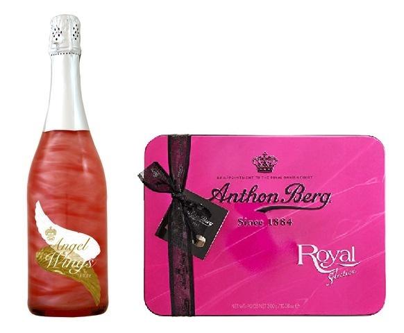 Angel Wings Cocktail cu Argint Alimentar si Bomboane Anthon Berg Royal Select [0]