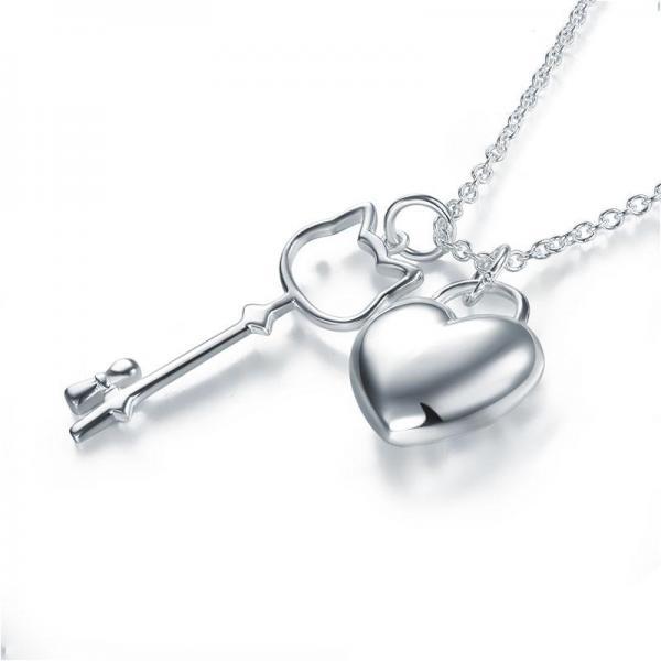 Colier Borealy Argint 925 Kitty Heart-big
