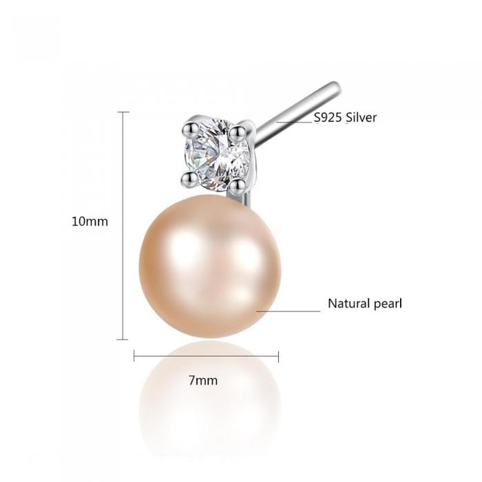 Cercei Borealy Argint 925 Small Natural Pearl [1]