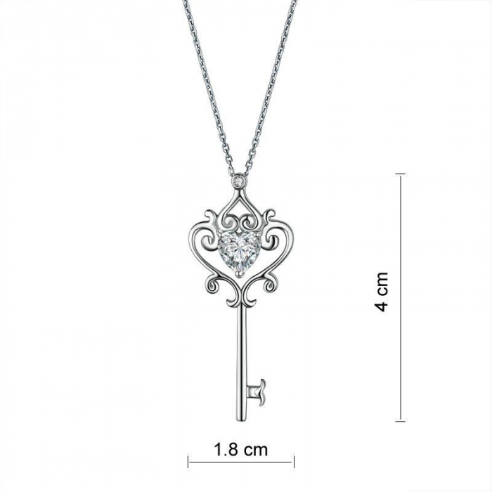 Colier Argint 925 Key Heart, by Borealy [1]