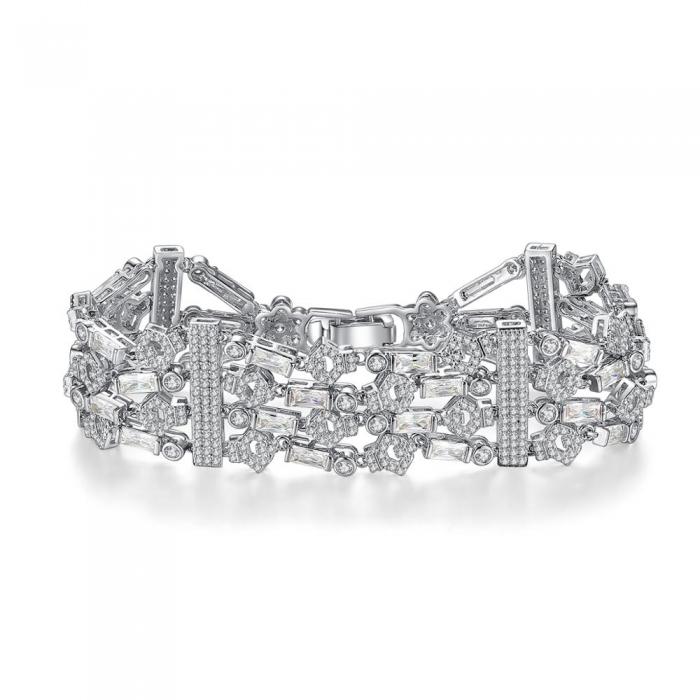 Bratara Borealy Lush Simulated Diamonds 0