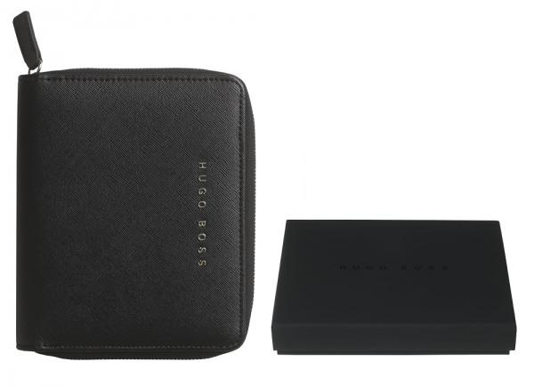 Premium Business Gift Set Mapa Conferinta Hugo Boss A6 si Butoni Tourbillon Silver 4