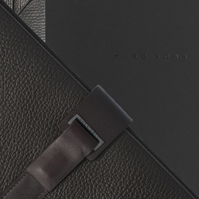 Set Pure Leather Brown Hugo Boss si Cravata Matase 3