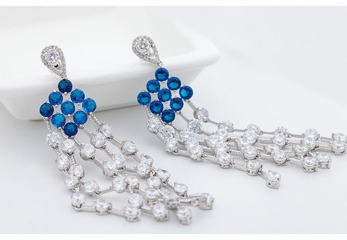 Cercei Borealy Chandelier Fancy Blue Crystal [1]