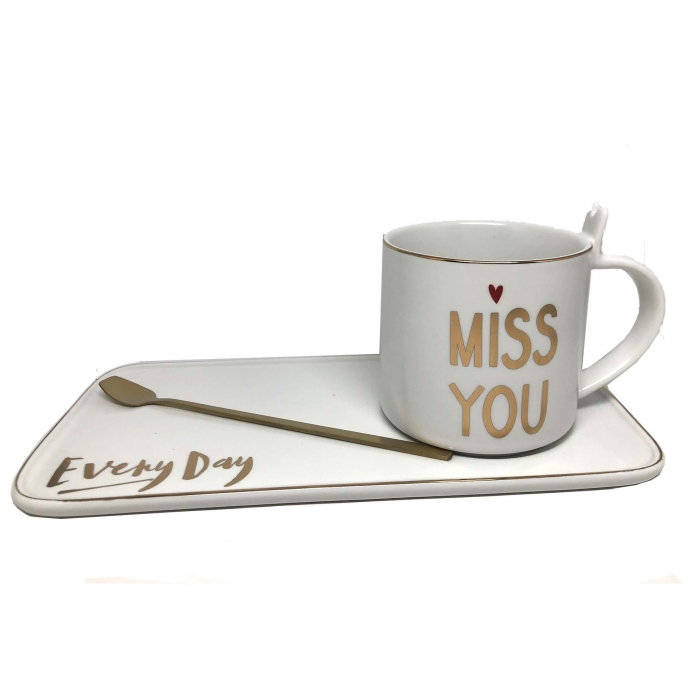Set Cafea Miss You Every Day [0]