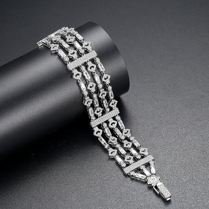 Bratara Borealy Lush Simulated Diamonds 2