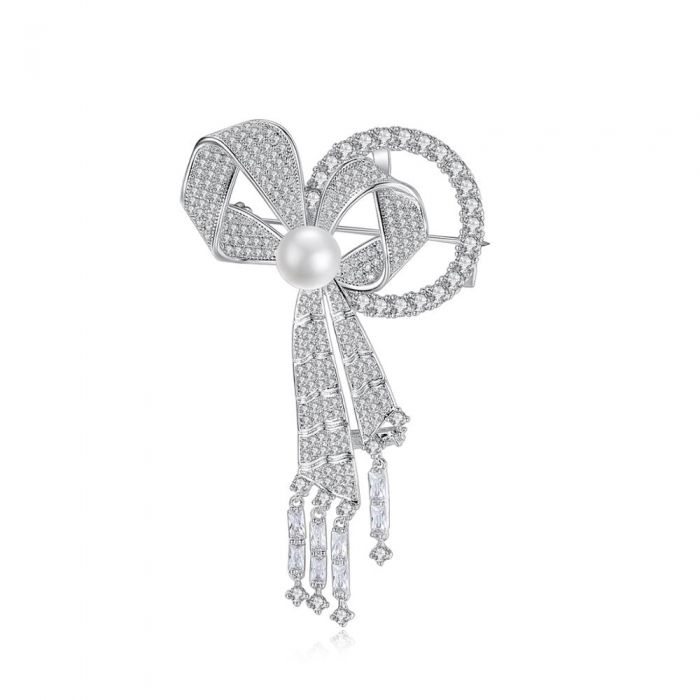Brosa Borealy Sophisticated Bow Pearl 0