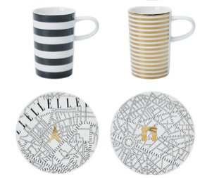 Set 2 cani Espresso Show Porcelana Plain de Paris by Elle 0