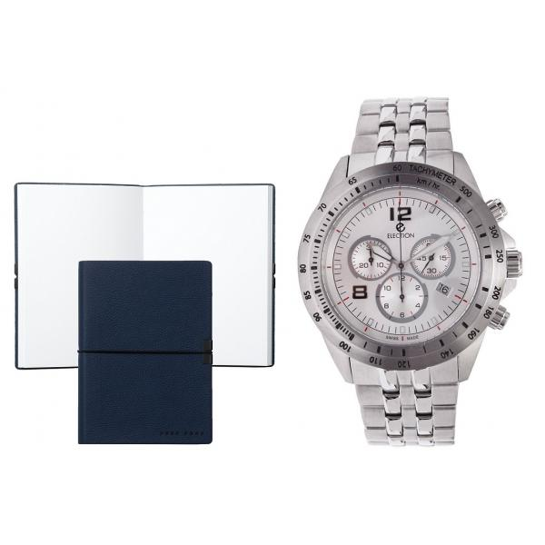 Set CEAS ELECTION TURBO SPORT – SILVER si Note Pad Blue HUGO BOSS 0