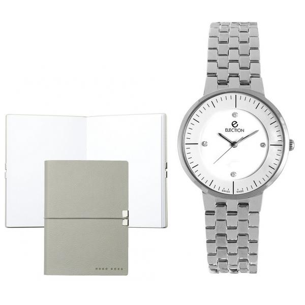 Set CEAS ELECTION PREMIUM SLIM LINE – SILVER S si Note Pad Grey HUGO BOSS-big