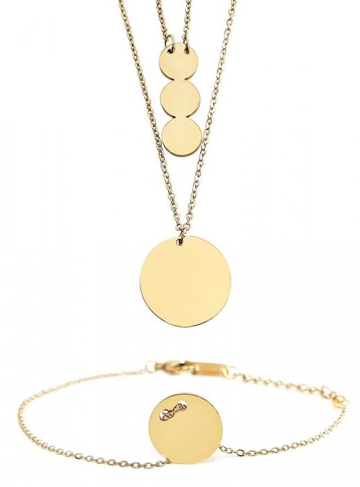 Set Colier si Bratara Delicate Gold by Borealy [0]
