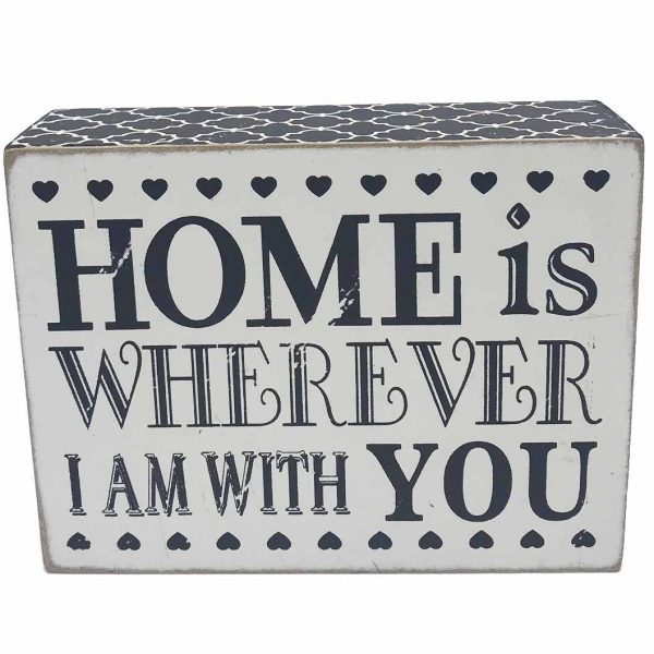 """Tablou motivational ,,HOME IS WHEREVER I AM WITH YOU"""" 9,5 x 13 cm 0"""