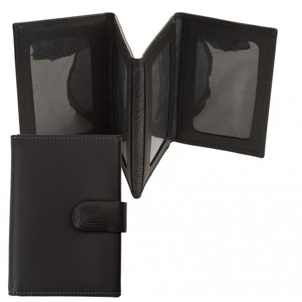 Black Business Set Stilou si Portofel pentru Carduri Ungaro-big