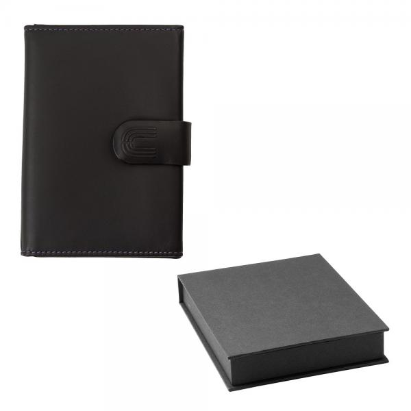 Set Black Gentleman Portcard Ungaro si Cravata matase-big