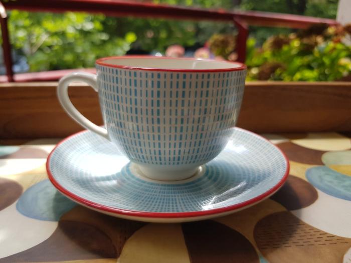 Set 6 cescute + farfurii de cafea By Zafferano, Made in Italy [2]