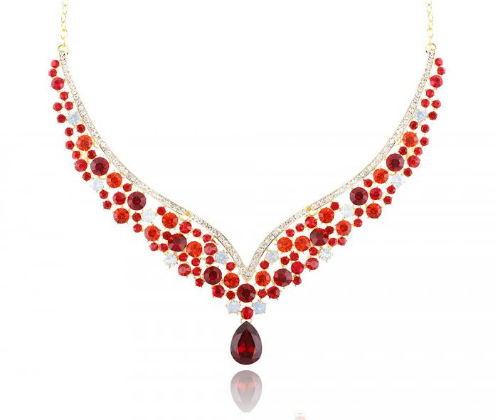Royal Red Set Statement Colier si Cercei-big