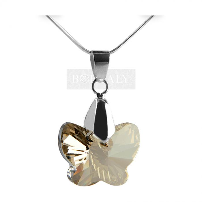 Colier 18 mm Butterfly Silver-big