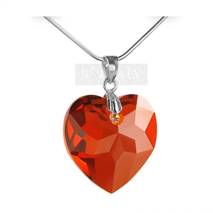 Pandantiv Borealy Rubin-Red Heart 18 mm Multi-facets 0