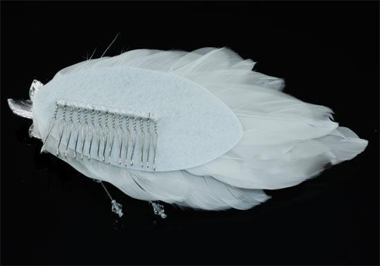 Agrafa Borealy Pearl Feather-big