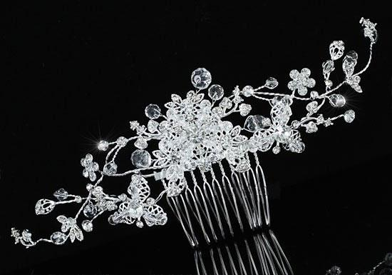 Agrafa Borealy Bridal Flower Sparkling-big