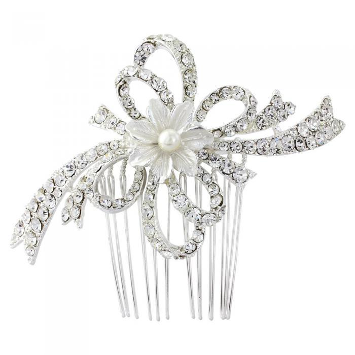 Agrafa Borealy Pearl Flower Mireasa 0