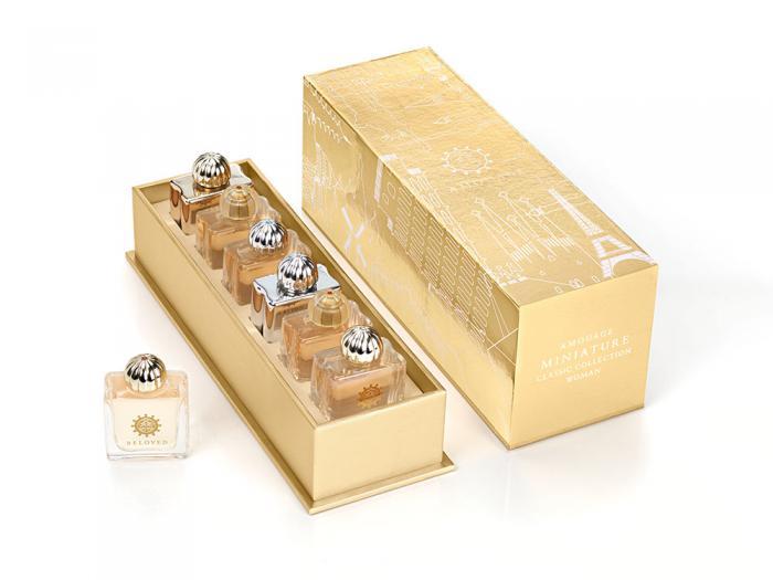 Set Amouage 6 Parfumuri Classic Women Miniatures si Esarfa Cacharel 2