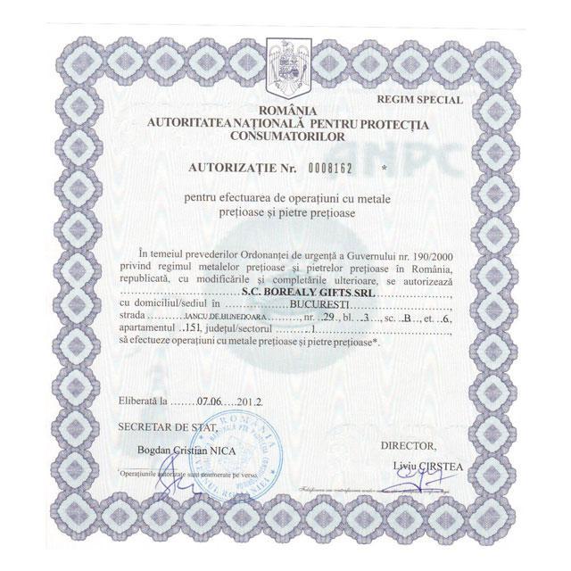 Inel Aquamarine Borealy Marimea 5,5 4