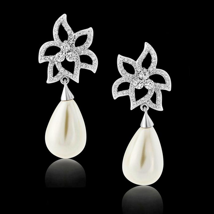 Cercei Borealy Classic Beauty Pear Pearl 2