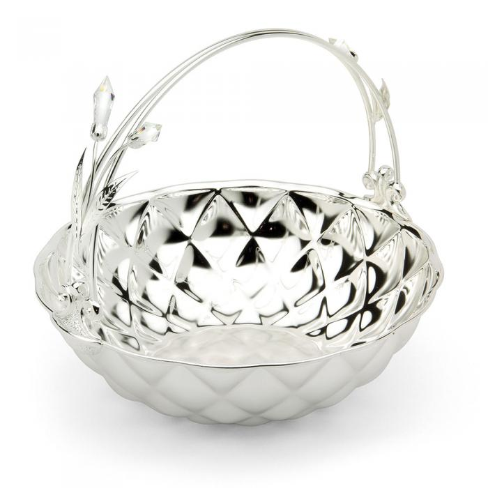Basket Fruit Bowl Silver Plated by Chinelli - made in Italy-big