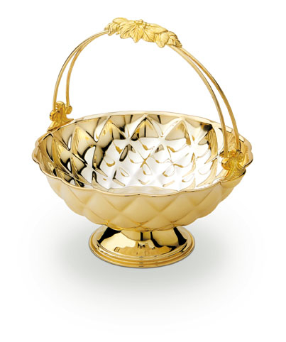 Basket Fruit Bowl Gold Plated by Chinelli - made in Italy 0