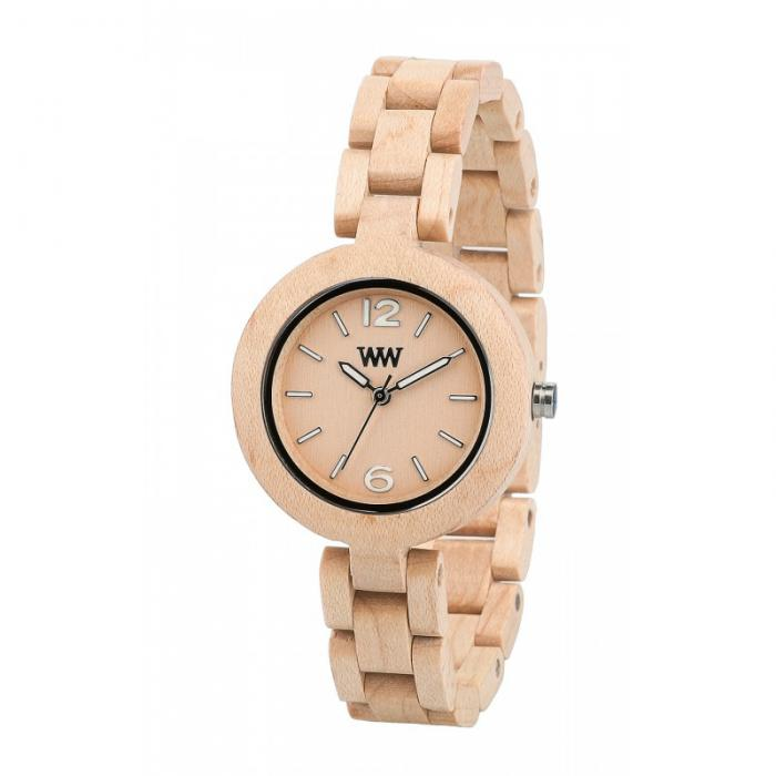 Mimosa Beige Wood Watch for Women - Ceas 100% din lemn lucrat manual-big