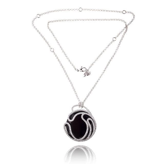 Black Delice Onix Set Medalion si cercei 3