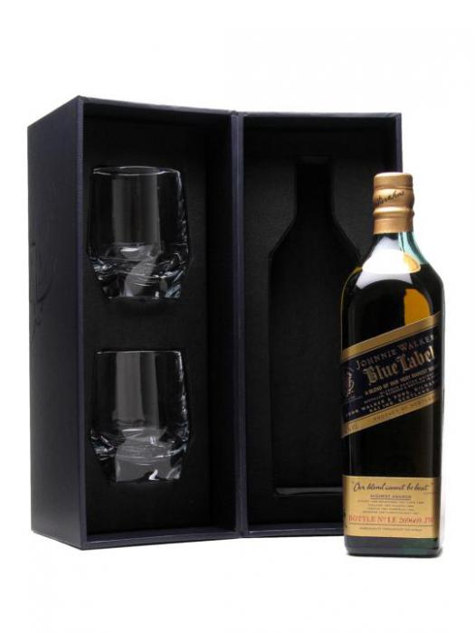 Johnnie Walker Blue Label set cu 2 Pahare Cristal 0