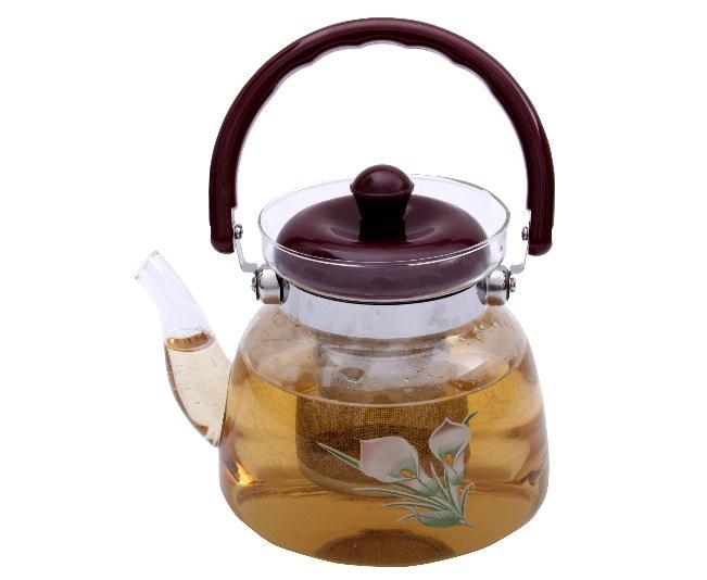 Ceai Floare Jasmine & Lilly Blooming flower cu ceainic sticla de lux 2