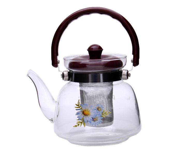 Ceai Floare Jasmine & Lilly Blooming flower cu ceainic sticla de lux 3