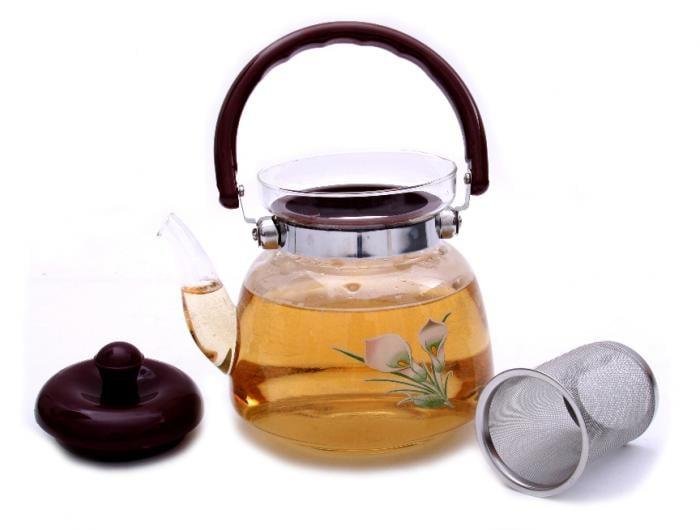Ceai Floare Jasmine & Lilly Blooming flower cu ceainic sticla de lux 1