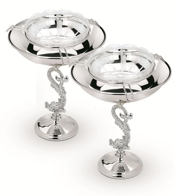 Bol Pentru Caviar placat cu argint Chinelli - Made in Italy-big